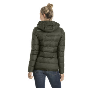 Thumbnail 3 of Women's PWRWARM X packLITE 600 Hooded Down Jacket, Forest Night, medium