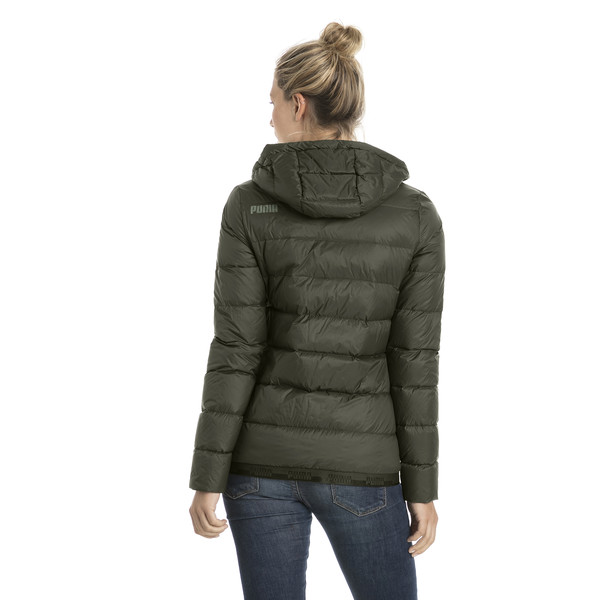 Women's PWRWARM X packLITE 600 Hooded Down Jacket, Forest Night, large
