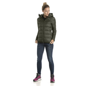Thumbnail 5 of Women's PWRWARM X packLITE 600 Hooded Down Jacket, Forest Night, medium