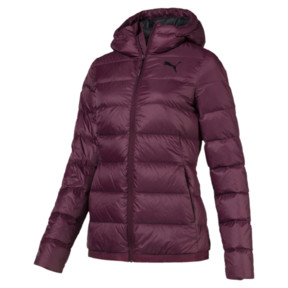 Thumbnail 1 of Women's PWRWARM X packLITE 600 Hooded Down Jacket, Fig, medium