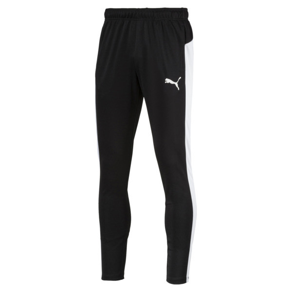 Active Tricot Men's Sweatpants, Puma Black-Puma White, large