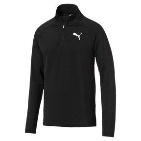 Thumbnail 1 of Active Herren Half Zip Sweatshirt, Puma Black, medium