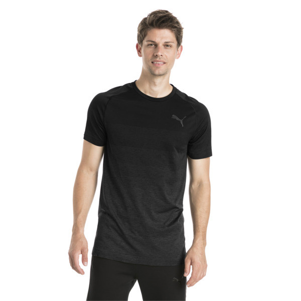 Evostripe evoKNIT Men's Seamless Tee, Puma Black, large
