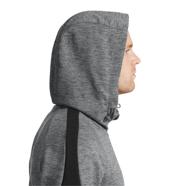 Evostripe Full Zip Men's Hoodie, Medium Gray Heather, large