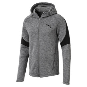 Thumbnail 1 of Evostripe Full Zip Men's Hoodie, Medium Gray Heather, medium