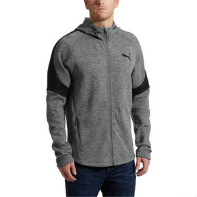 Thumbnail 2 of Evostripe Full Zip Men's Hoodie, Medium Gray Heather, medium