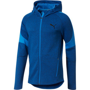 Thumbnail 1 of Evostripe Full Zip Men's Hoodie, Strong Blue Heather, medium