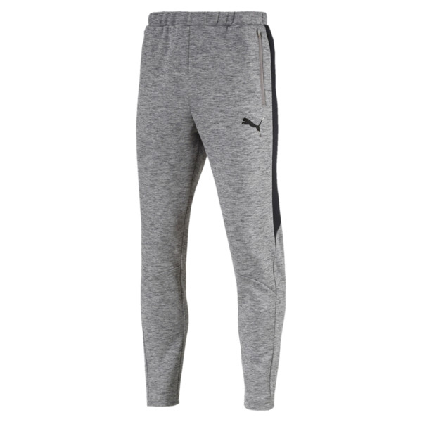 Evostripe Men's Pants, Medium Gray Heather, large