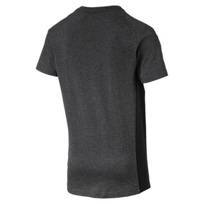 Thumbnail 4 of Active Evostripe Warm Men's Tee, Dark Gray Heather, medium