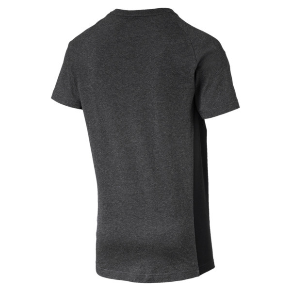 Active Evostripe Warm Men's Tee, Dark Gray Heather, large