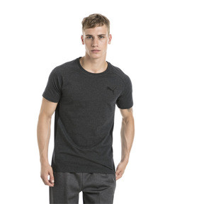 Thumbnail 2 of Active Evostripe Warm Men's Tee, Dark Gray Heather, medium
