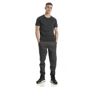 Thumbnail 5 of Active Evostripe Warm Men's Tee, Dark Gray Heather, medium