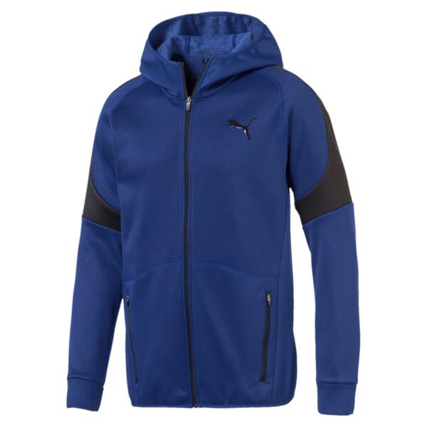 Evostripe Warm Full Zip Men's Hoodie, Sodalite Blue, large
