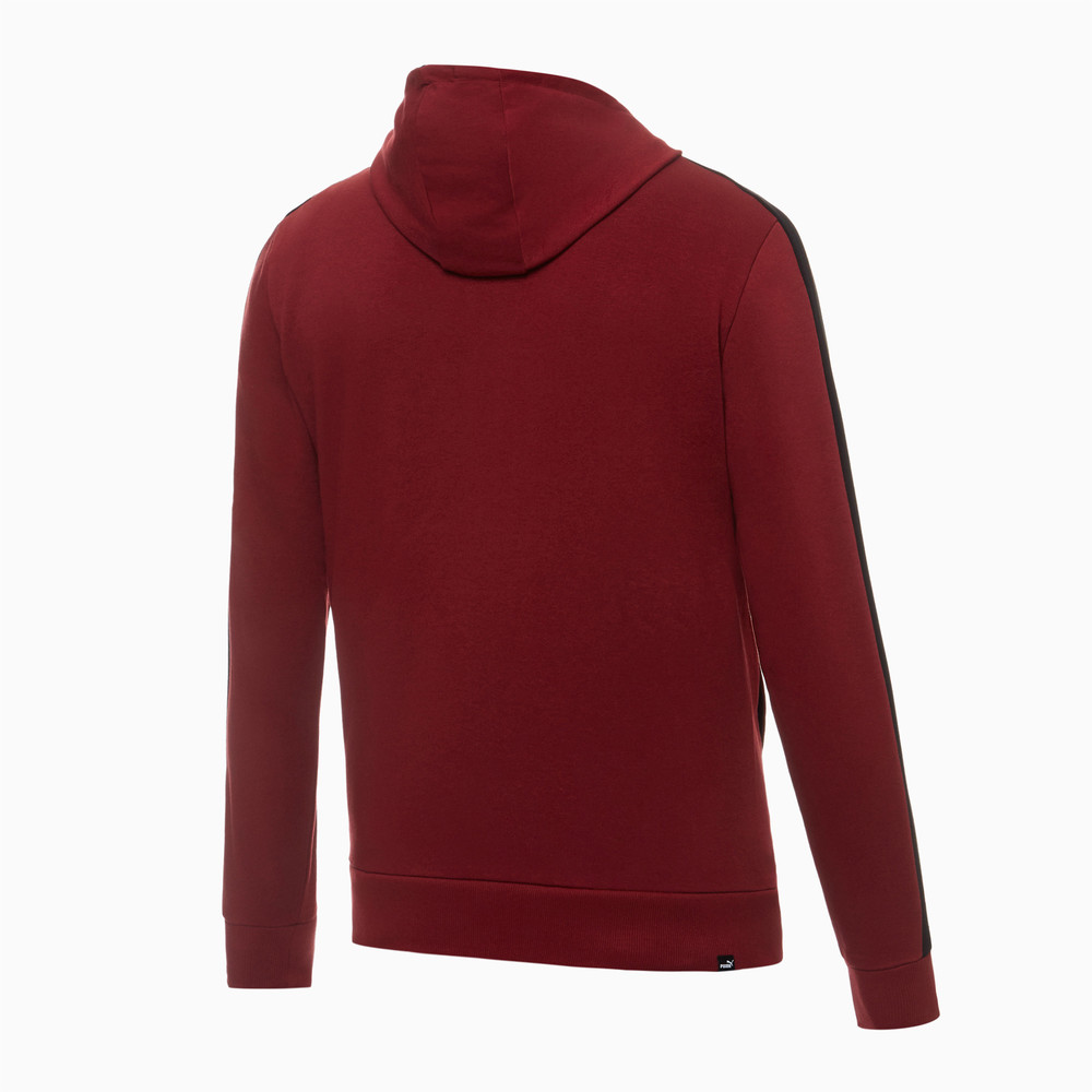PUMA - female - Толстовка Contrast FZ Hoody FT M – Pomegranate –, Красный