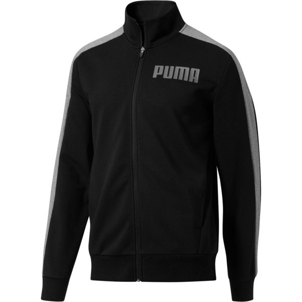 Contrast Track Jacket, Cotton Black, large