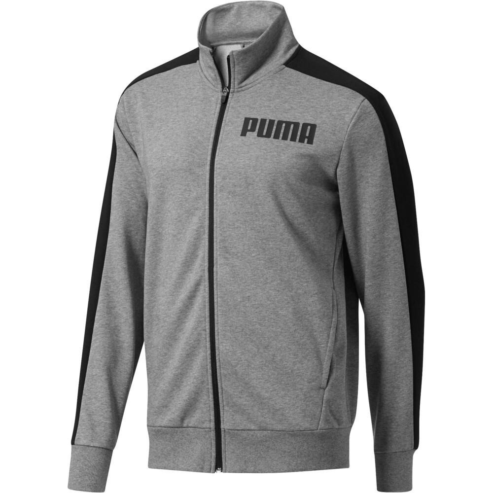 PUMA - female - Олимпийка Contrast Track Jacket FT  – Medium Gray Heather 01 –, Серый