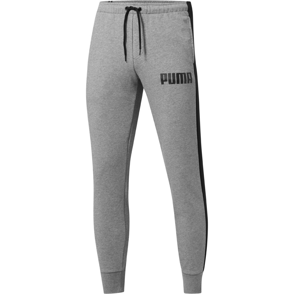 PUMA - female - Штаны Contrast Pants FT M CL – Medium Gray Heather 01 –, Серый