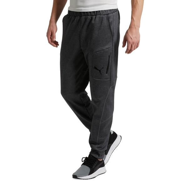 Evostripe Men's Warm Pants, Dark Gray Heather, large