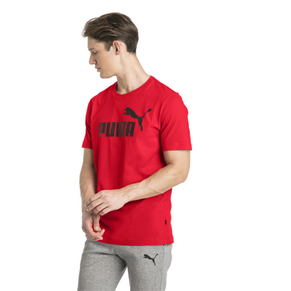 Essentials Short Sleeve Men's Tee, Puma Red, large