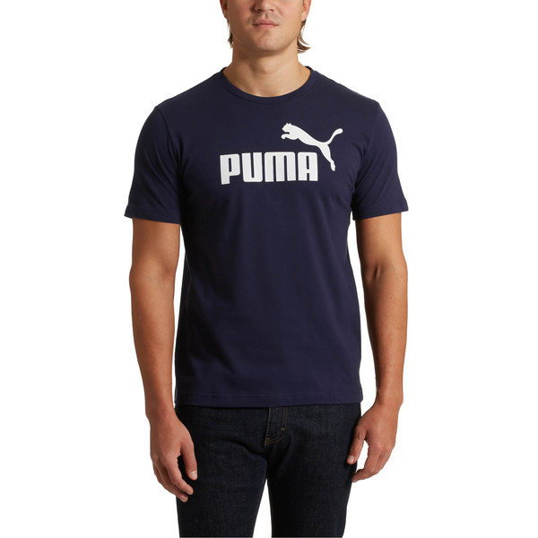 Features & Benefits Bci: Puma Partners With Better Cotton Initiative To Improve Cotton Farming Globally Details Regular Fitrib Crew Neckpuma No. 1 Logo At Frontcotton And Elastane | PUMA Essentials Men\\'s T-Shirt in Peacoat, Size M