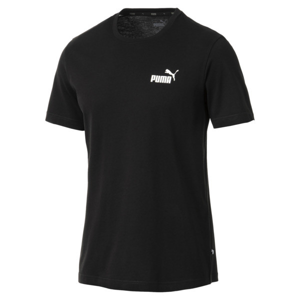 Men's Essentials Small Logo T-Shirt, Cotton Black, large