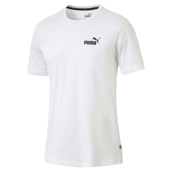 Men's Essentials Small Logo T-Shirt, Puma White, large