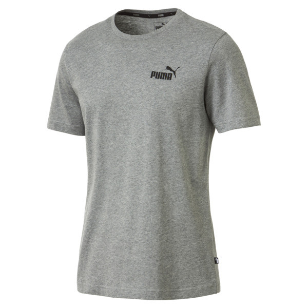Men's Essentials Small Logo T-Shirt, Medium Gray Heather, large