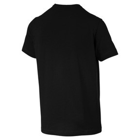 Thumbnail 5 of Men's Essentials Small Logo T-Shirt, Cotton Black-_Cat, medium