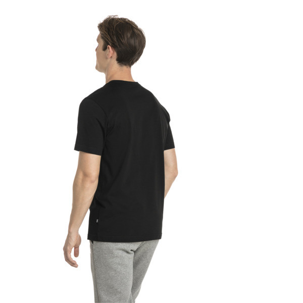 Men's Essentials Small Logo T-Shirt, Cotton Black-_Cat, large