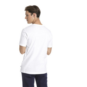 Thumbnail 2 of Men's Essentials Small Logo T-Shirt, Puma White-_Cat, medium