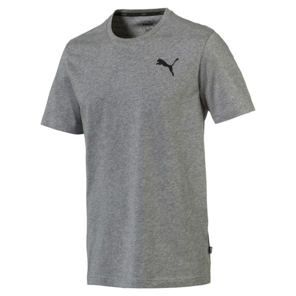 Men's Essentials Small Logo T-Shirt, Medium Gray Heather-_Cat, large