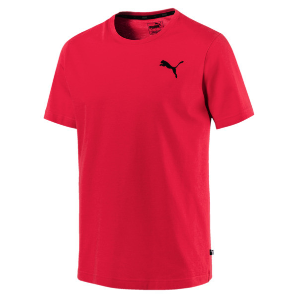 Men's Essentials Small Logo T-Shirt, Puma Red-_Cat, large
