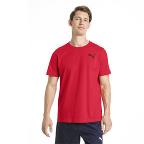 Thumbnail 1 of Men's Essentials Small Logo T-Shirt, Puma Red-_Cat, medium