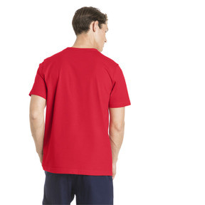 Thumbnail 2 of Men's Essentials Small Logo T-Shirt, Puma Red-_Cat, medium