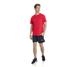 Thumbnail 3 of Men's Essentials Small Logo T-Shirt, Puma Red-_Cat, medium