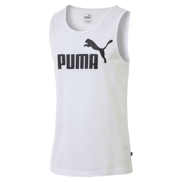 Essentials Men's Tank Top, Puma White, large