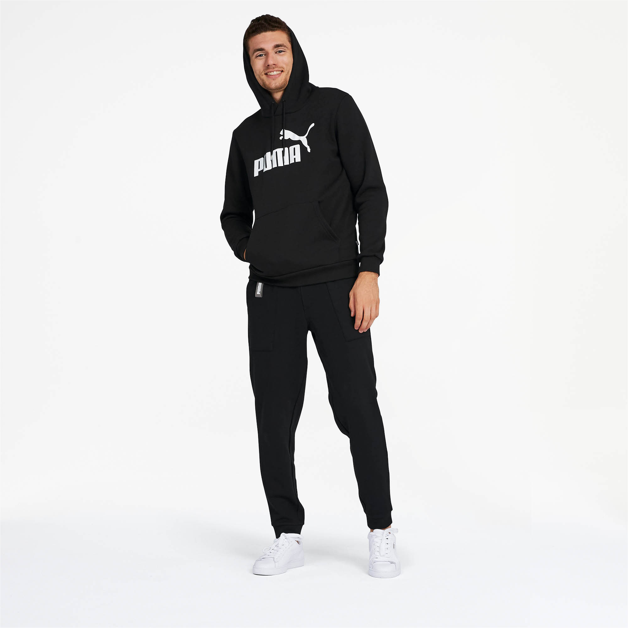 PUMA-Essentials-Men-039-s-Fleece-Hoodie-Men-Sweat-Basics thumbnail 6