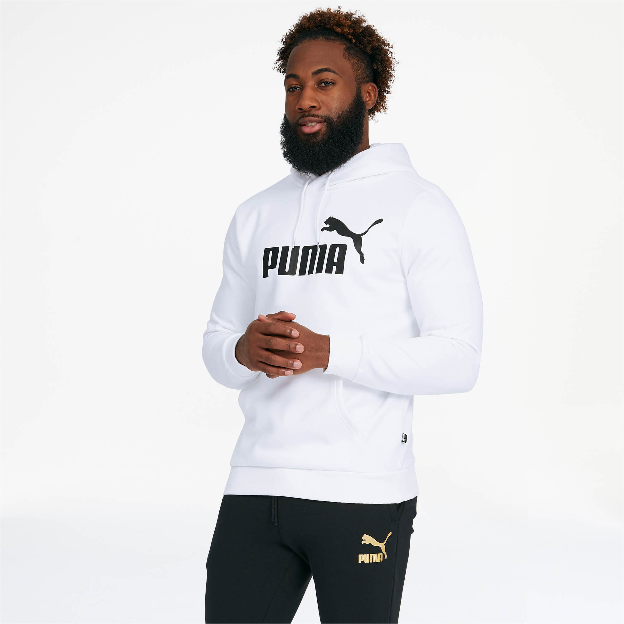 PUMA-Essentials-Men-039-s-Fleece-Hoodie-Men-Sweat-Basics thumbnail 32