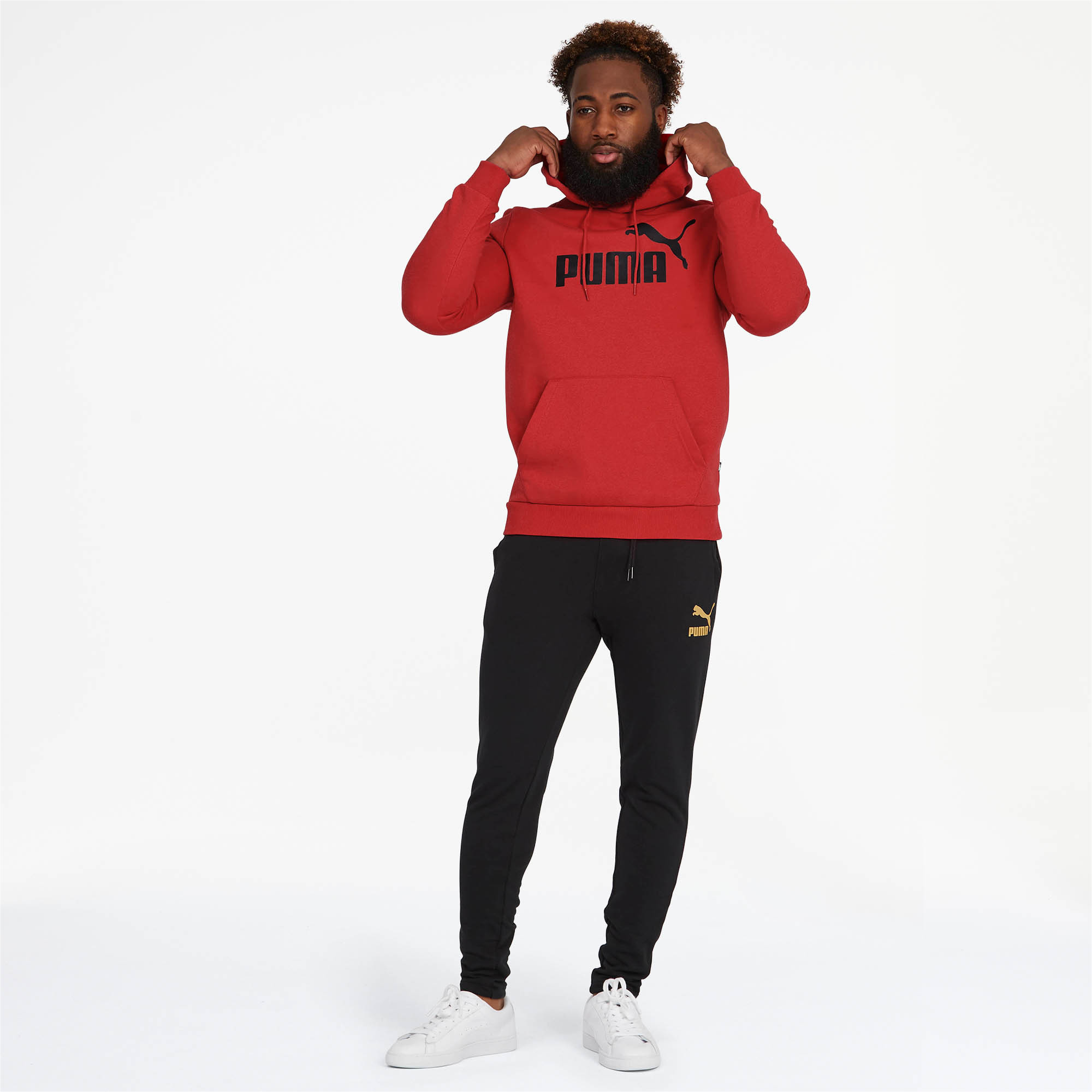PUMA-Essentials-Men-039-s-Fleece-Hoodie-Men-Sweat-Basics thumbnail 18