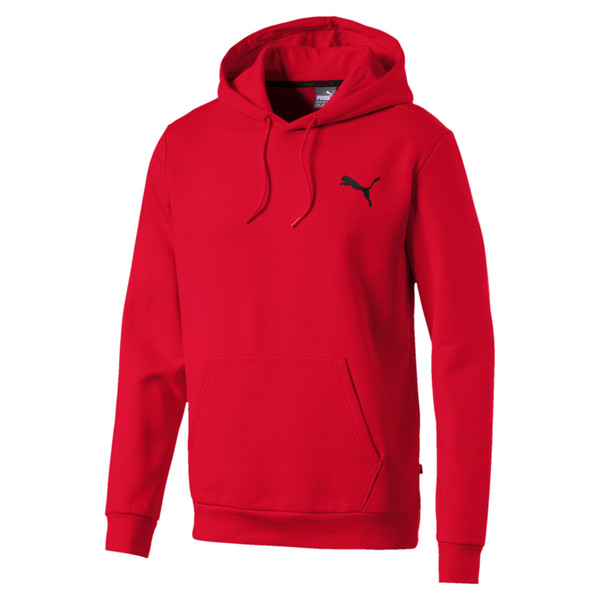 Sweat à capuche en polaire pour homme, Puma Red-Cat, large