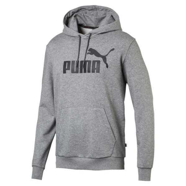 Essentials Men's Hoodie, Medium Gray Heather, large