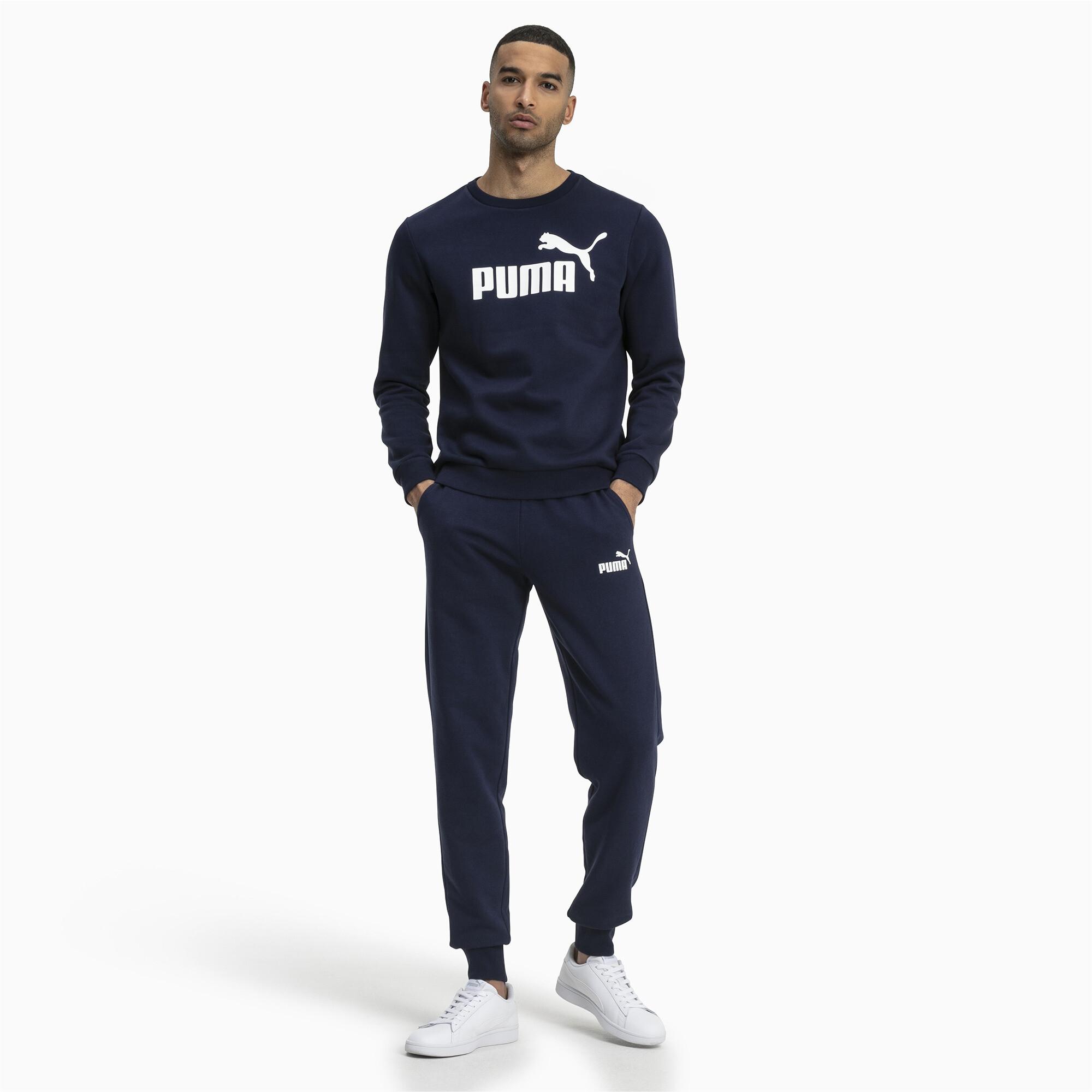 PUMA Essentials Herren Fleece Sweatshirt Männer Sweat Basics