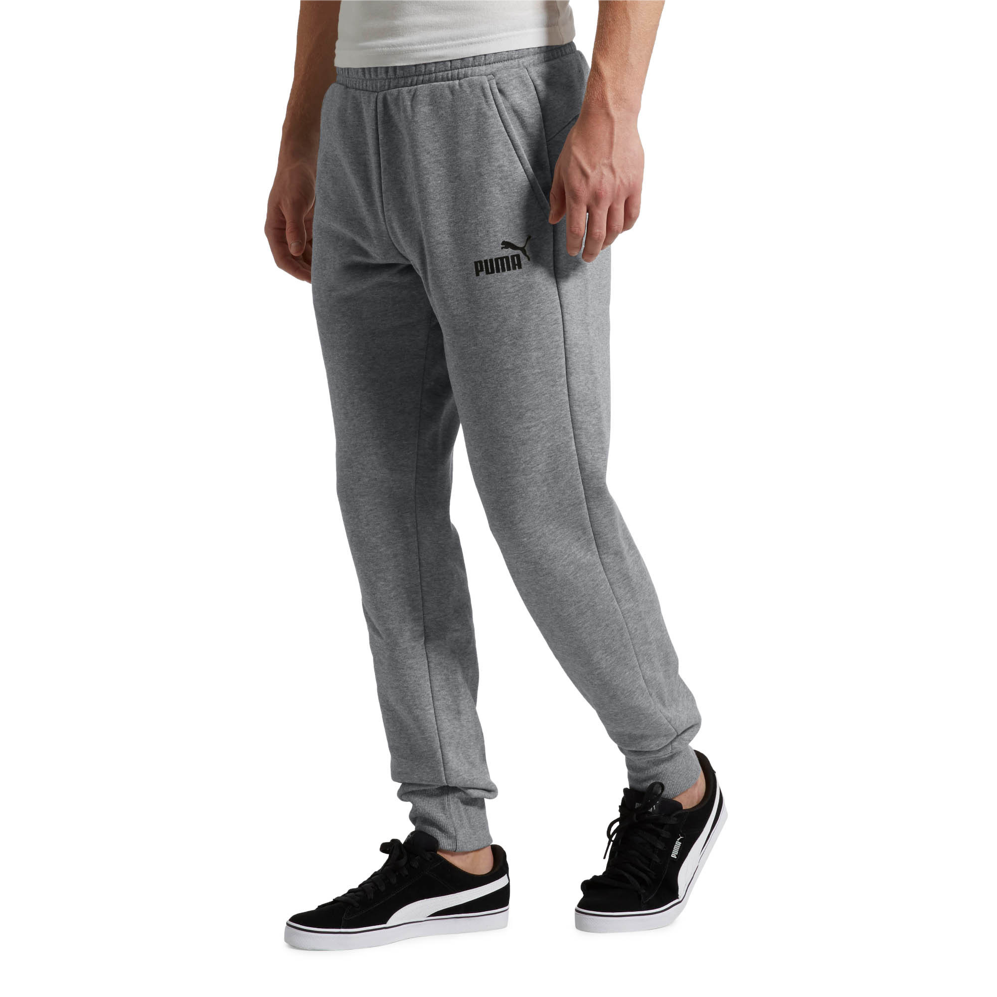 PUMA-Essentials-Men-039-s-Fleece-Knit-Pants-Men-Knitted-Pants-Basics thumbnail 10
