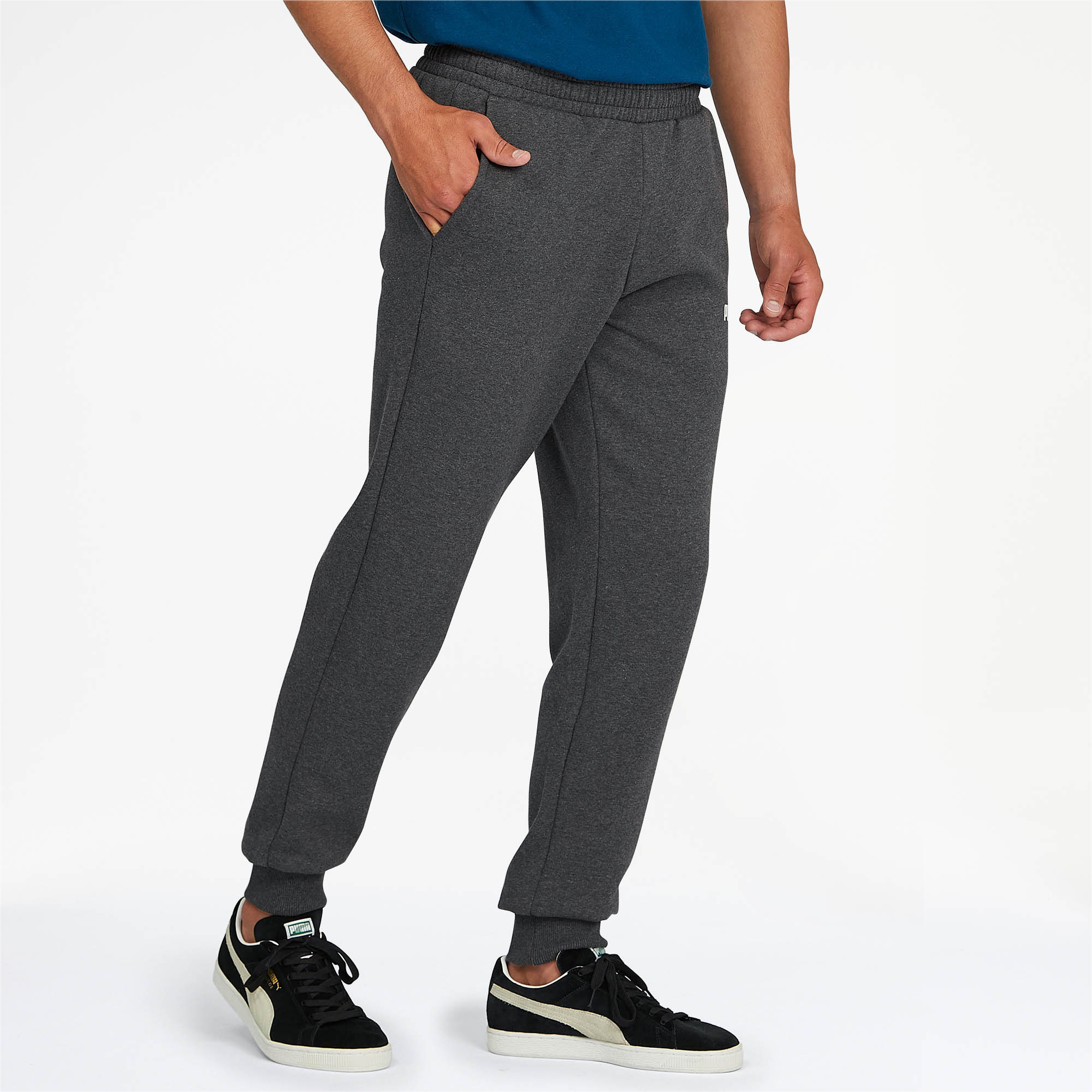 PUMA-Essentials-Men-039-s-Fleece-Knit-Pants-Men-Knitted-Pants-Basics thumbnail 16