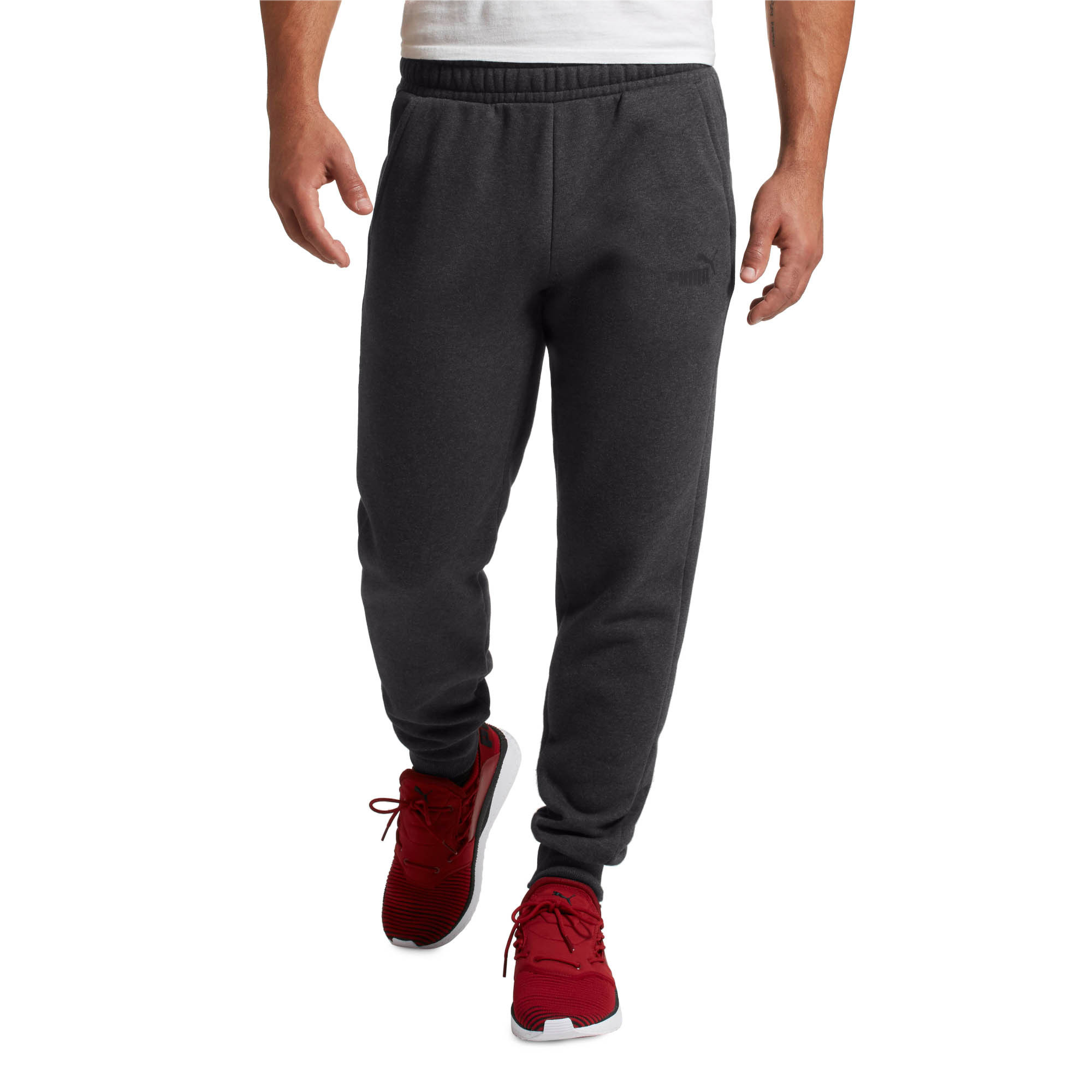 PUMA-Essentials-Men-039-s-Fleece-Knit-Pants-Men-Knitted-Pants-Basics thumbnail 3