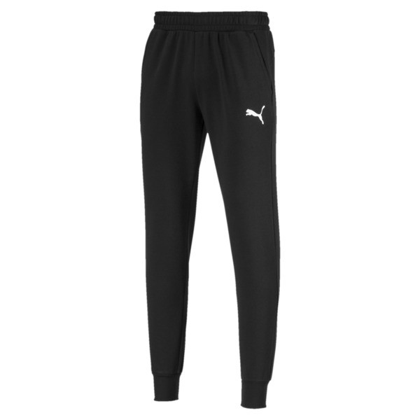 Essentials Men's Sweatpants, Puma Black-Cat, large