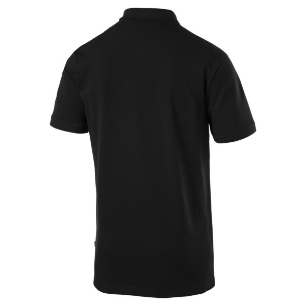 Essential Short Sleeve Men's Polo Shirt, Cotton Black, large