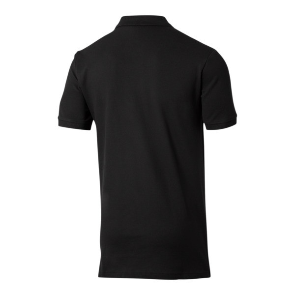 Essentials Men's Pique Polo, Cotton Black, large
