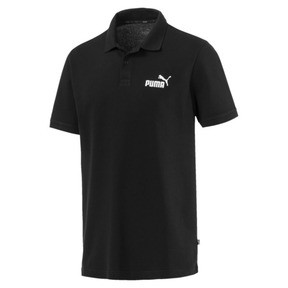 Thumbnail 4 of Essential Short Sleeve Men's Polo Shirt, Cotton Black, medium