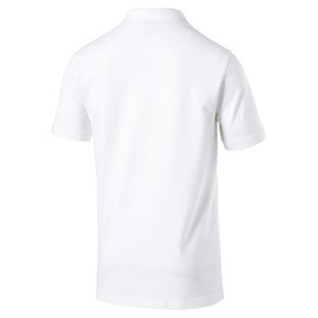 Thumbnail 5 of Essential Short Sleeve Men's Polo Shirt, Puma White, medium